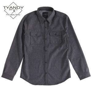 ティーアンディー  ボンデッド デニム シャツ TYJ91009D 009D/BLACK DENIM スノーボード TYANDY BONDED DENIM SHIRT|ee-powers