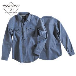 ティーアンディー  ボンデッド デニム シャツ TYJ91009D 698D/BLUE DENIM スノーボード TYANDY BONDED DENIM SHIRT|ee-powers