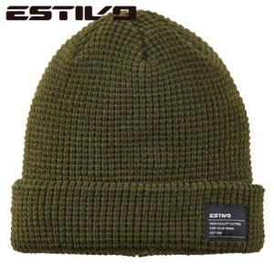 エスティボ WAFFLE KNIT CAP OV EVA7605 スノーボード ウェア|ee-powers