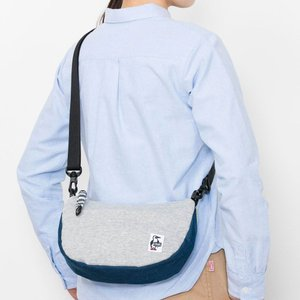 チャムス Mini Banana Shoulder Sweat Nylon H-Gray/Basic Navy CH60-0735|ee-powers
