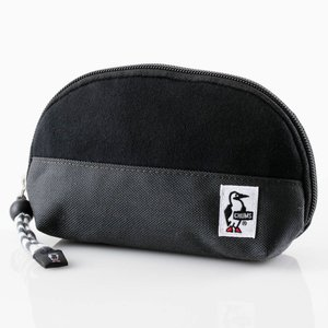 チャムス Shell Pouch Sweat Nylon Black/Charcoal CH60-0692|ee-powers