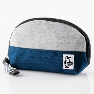 チャムス Shell Pouch Sweat Nylon H-Gray/Basic Navy CH60-0692|ee-powers