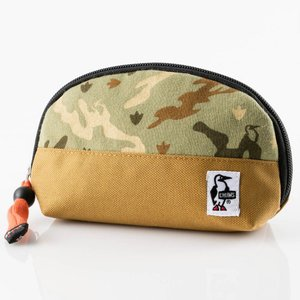 チャムス Shell Pouch Sweat Nylon Nature Booby Camo CH60-0692|ee-powers