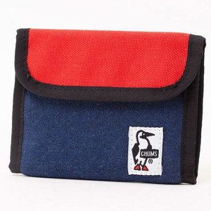 チャムス Trifold Wallet Sweat Nylon H-Navy/Tomato CH60-0696|ee-powers