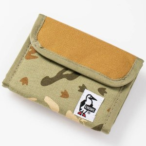 チャムス Trifold Wallet Sweat Nylon Nature Booby Camo CH60-0696|ee-powers