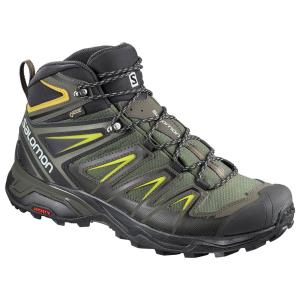 サロモン X ULTRA 3 WIDE MID GORE-TEX(R) L40129500 CastorGray×Black×GreenSulphur メンズ SALOMON|ee-powers