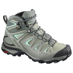 サロモン X ULTRA 3 WIDE MID GORE-TEX(R) L40133100 Shadow×CastorGray×BeachGlass レディース SALOMON|ee-powers