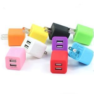 高速USB充電器 キューブ型 USBコンセント ACアダプター 2.1A+1A 2ポートタイプ 3....
