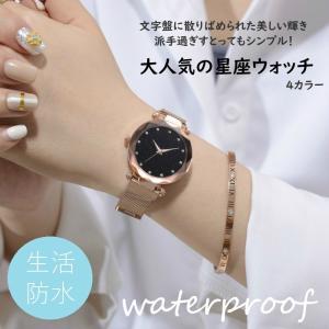 レディース 高級感溢れる 大人気の星座ウォッチ 時計 腕時計 文字盤がキラキラ輝く 星空のような 美しさ 磁石クラスプ 送料無料|eegoods-labo