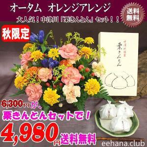 中津川 栗きんとん とオータムアレンジセット 秋限定 4,980円 送料無料