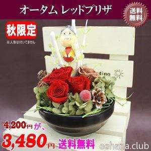 売れてます 枯れない魔法のお花 オータムレッドプリザが3,480円 送料無料|eehana