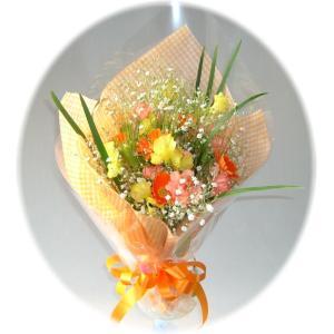 新鮮なお花シリーズ 結婚祝 出産祝 ミニオレンジ 3,000円花束|eehana