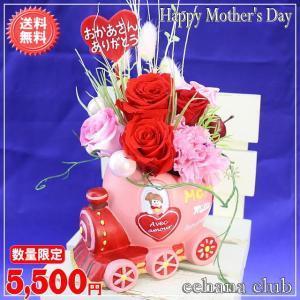 母の日 花 ギフト 特割中 数量限定 母の日プリザ マミートレイン4,980円  送料無料|eehana