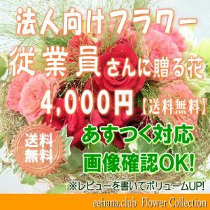 従業員さんに贈る花 4,000円      花束・アレンジ・プリザーブドフラワー・はちもの|eehana
