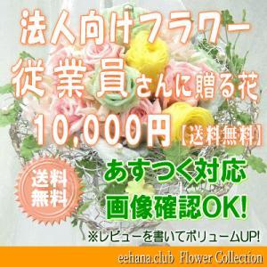 従業員さんに贈る花 10,000円   送料無料     花束・アレンジ・プリザーブドフラワー・はちもの|eehana