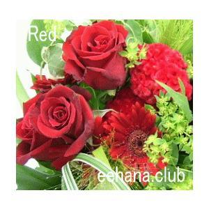 色で選ぶフラワー レッド 7,000円  花 ギフト バースデー お祝い プレゼント 結婚祝 出産祝 お見舞い|eehana