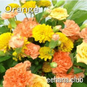 色で選ぶフラワー オレンジ 5,000円  花 ギフト バースデー お祝い プレゼント 結婚祝 出産祝 お見舞い|eehana
