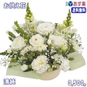 ペットのお供え・お悔やみに贈る花 フラワーアレンジ 清純  3,500円 今だけ 送料無料 eehana