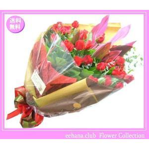花 ギフト バースデー6月の誕生花 ローズ花束10,000円 送料無料   あすつく対応   写真付きメッセージ選択可|eehana