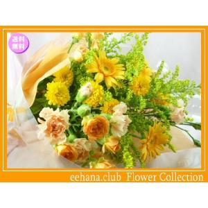 花 ギフト バースデー10月の誕生花 ビタミンオレンジ花束3,500円 送料無料  花言葉付き ガーベラ   写真付きメッセージ選択可|eehana