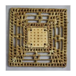 パンダン 正方形 ホットプレート(中心に陶器飾り有)|eei7