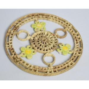 パンダン 丸形ホットプレート(陶器の飾り付け有)小|eei7