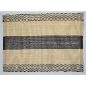 フィリピン 工芸品 Ilocos 地方伝統 手織り ランチョンマット 2枚組 ブラウン|eei7