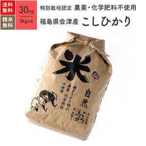 無農薬玄米 米 30kg コシヒカリ 会津産 特別栽培米 令和元年産|eekome
