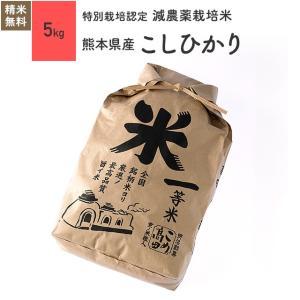 米 お米 5kg コシヒカリ 熊本県産 特別栽培米 令和元年産|eekome
