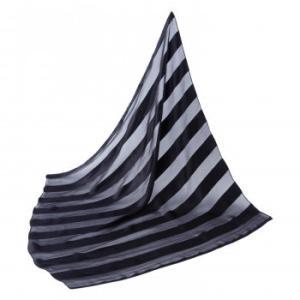 シルクのスカーフ(ストライプ柄)|eel