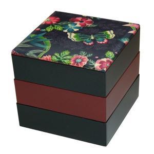 重箱 おしゃれ 布貼 16.5 角  楽園紫 001-173...
