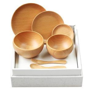 【送料無料】お食い初め 子ども食器セット 北欧産ブナ材 20460