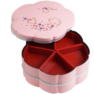 重箱 おしゃれ 二段 桜型 ピンク 001-289...