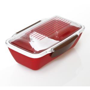 ドーム型弁当箱 ア・ターブル 1段レディース弁当 レッド(食洗機対応・電子レンジ対応)