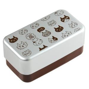 電子レンジ加熱・食洗機対応の2段入子型弁当箱です。 かわいいねこのデザインで、毎日のお弁当がいっそう...