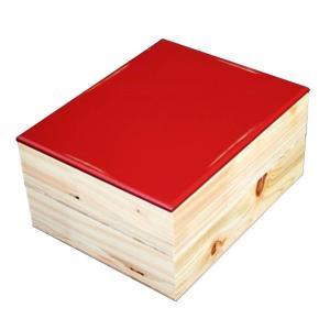 重箱 おしゃれ 二段  NJeco汎 木製 変り根来塗 赤 001-785
