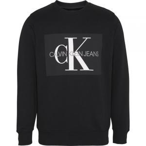 カルバンクライン Calvin Klein Jeans メンズ スウェット・トレーナー トップス Monogram Logo Cotton Sweatshirt Black ef-3