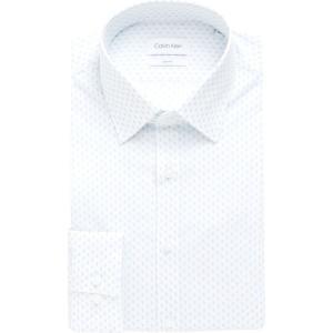 カルバンクライン Calvin Klein Tailoring メンズ シャツ トップス slim fit stretch shirt Blue ef-3