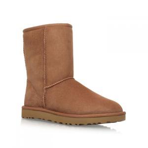 アグ Ugg レディース ブーツ シューズ・靴 Short chestnut classic II boots Brown|ef-3