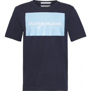 カルバンクライン Calvin Klein メンズ Tシャツ トップス box logo t-shirt Navy ef-3