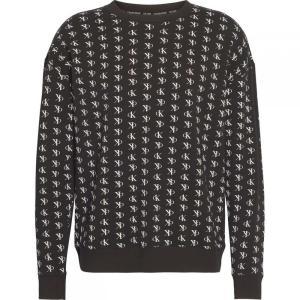 カルバンクライン Calvin Klein Underwear メンズ スウェット・トレーナー トップス LS Crew Sweat Sn00 Staggered Logo ef-3