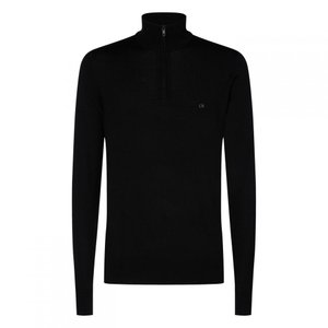 カルバンクライン Calvin Klein メンズ ニット・セーター トップス Half Zip Sweater Black ef-3