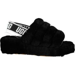 アグ Ugg レディース スリッパ シューズ・靴 Fluff Yea Sliders Black|ef-3