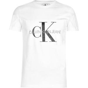 カルバンクライン Calvin Klein Jeans メンズ Tシャツ トップス Monogram T Shirt White ef-3