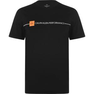 カルバンクライン Calvin Klein Performance メンズ Tシャツ トップス Short Sleeve T Shirt CK Black ef-3