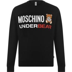 モスキーノ MOSCHINO メンズ スウェット・トレーナー トップス under bear sweatshirt Black ef-3