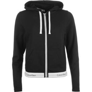 カルバンクライン Calvin Klein レディース パーカー トップス Cotton Zip Hoodie BLACK|ef-3