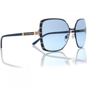 トリー バーチ Tory Burch レディース メガネ・サングラス Gold TY6055 square sunglasses Gold|ef-3