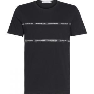 カルバンクライン Calvin Klein Jeans メンズ Tシャツ トップス Institutional Tape T Shirt Ck Black|ef-3