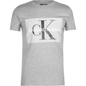 カルバンクライン Calvin Klein Jeans メンズ Tシャツ トップス Monogram T Shirt Grey|ef-3